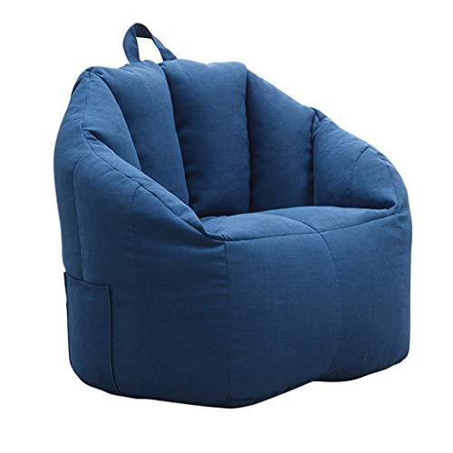 JJZXT Sala de Estar Sin Relleno Dormitorio Lavable Tela Suave Cierre de Cremallera Funda de Frijol con asa Sala de Juegos Fácil Limpieza (Color : Blue)