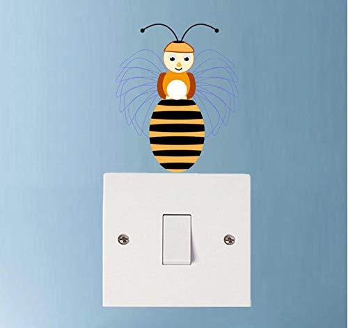 WWWLD 2pc Wandaufkleber Pvc Bee Kinder Dekoration Farbschalter