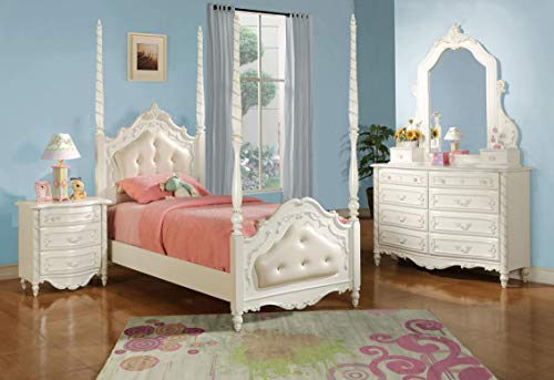 ACME 01020 Pearl Dresser, Pearl White Finish