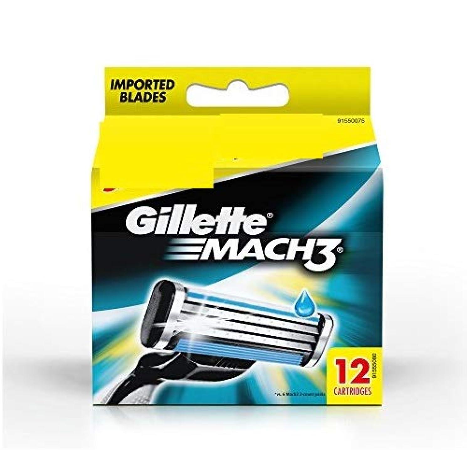 速記東マーティンルーサーキングジュニアGillette Mach3 Blade 12 cartridges