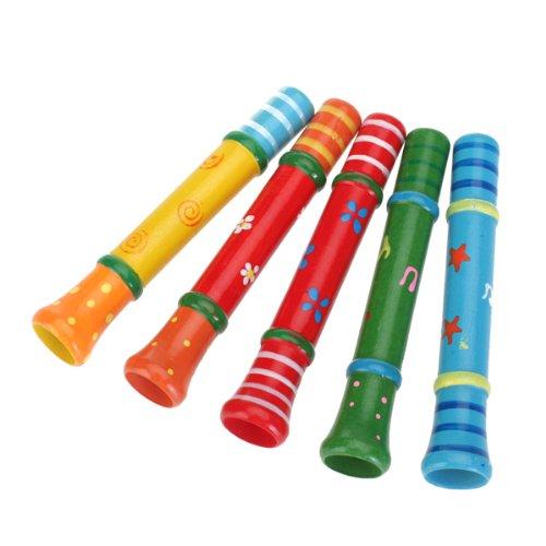 Generic Musica Classica Altoparlante di Legno Fischio Giocattolo di Puzzle Giochi Musicali, Colore Casuale