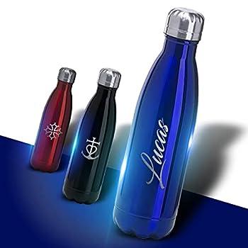 Bouteille En Acier Inoxydable 304 Personnalisable 700mL - Thermos et gourdes Personnalisés - Idée Cadeau (Gourde ALPINA) (Bleu)