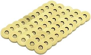 TOVOT TOVOT 50 Set magnetische Knöpfe Druckknöpfe 18 mm Verschluss Verschluss Verschluss Knopf zum Nähen, Basteln, Geldbörsen, Taschen, Kleidung, Leder, Handtasche bronze