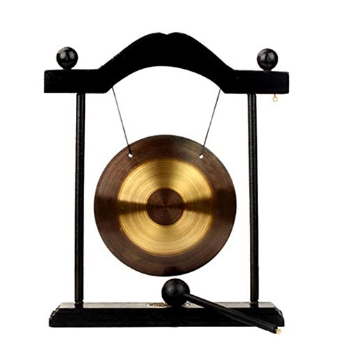 Zhuowei Chinesischer Tisch Gong,Feng Shui Meditation Abnehmbare Design Schreibtischglocke Inneneinrichtung Einweihungsparty Glückwunsch Segen Geschenk,3