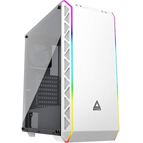 Montech AIR 900 ARGB White/High-Airflow/ATX Mid-Tower/ARGB Lighting Strip/Sync with Motherboard/Dust- Proof/Computer Gaming Case/EATX,ATX, Micro ATX, Mini ITX/Unique mesh Side/Dual USB3.0