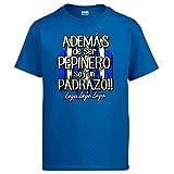 Diver Bebé Camiseta además de ser Pepinero Soy un padrazo futbolero de Leganés - Azul Royal, XL