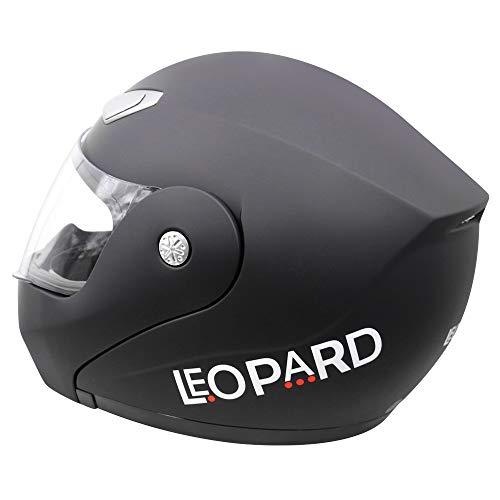 Leopard LEO-717 Klapphelm Integralhelm Helm Motorradhelm Straße legal #01 Mattschwarz S (55-56cm) - 6