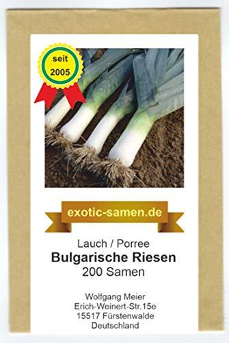 Lauch, Porree - Bulgarische Riesen - 200 Samen
