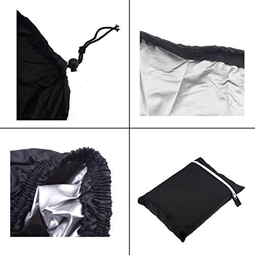 Sqodok Mobility Scooter Storage Cover, Wheelchair Cover Waterproof for Travel Lightweight Electric Chair Cover Rain Protector from Dust Dirt Snow Rain Sun Rays - 55 x 26 x 36 inch (L x W x H)