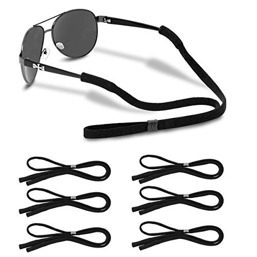 BKpearl 16 Pcs Adjustable Sunglasses Straps Floating Foam Glasses Straps Eyeglass Retainer Cords for Sports Outdoor Activities