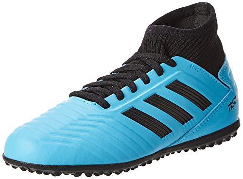 Adidas Predator 19.3 TF J, Botas de fútbol Unisex niño, Multicolor (Bright Cyan/Core Black/Solar Yellow 000), 36 EU