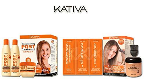 Kativa - Queratina para el cabello y aceite de Argán, Alisado Brasile