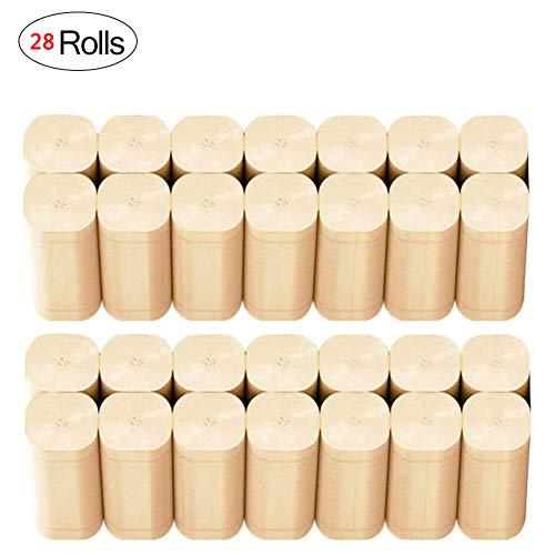 Bamboepulp Toiletpapier Gezinsvriendelijk Eco-vriendelijk toiletpapier Roll Pack 4-laags 28 rollen