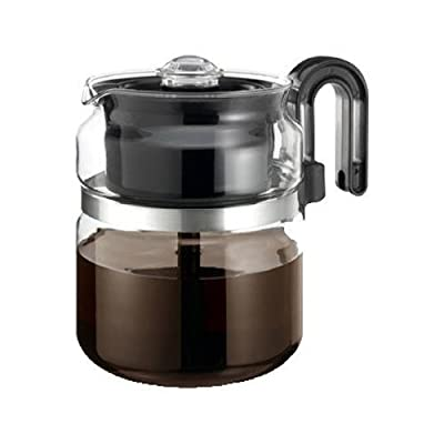 One-All Stovetop Percolator 8 Cup 7 in. Dia. X 5.6 in. H Black Handle