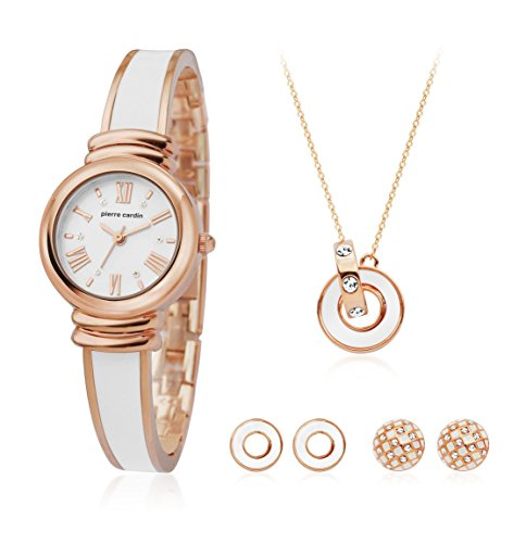 Pierre Cardin Watch Gift Set Jewelry Ladies Rose Gold