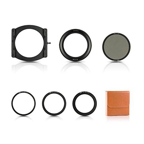 NiSi V5 Pro - Kit de filtros (100 mm, con Anillos de Adaptador y CPL, Color Negro (NIP-100-V5PRO)