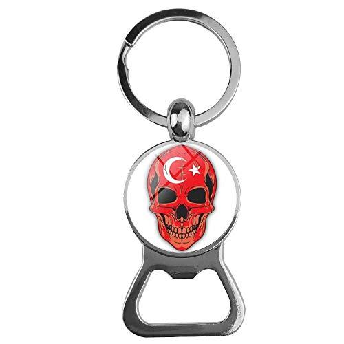 NANA318 Flag Schädelöffner Bieröffner Creative Keychain Opener Die Türkei_Bier Flaschenöffner Schlüsselbund