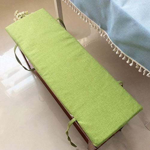 POETRY Anti Slip Bench Cushion with Tie Soft Lounger Cushion Bench Swing Cushion Large 2 Seater Garden Seat Cushion (Green 120x35cm)