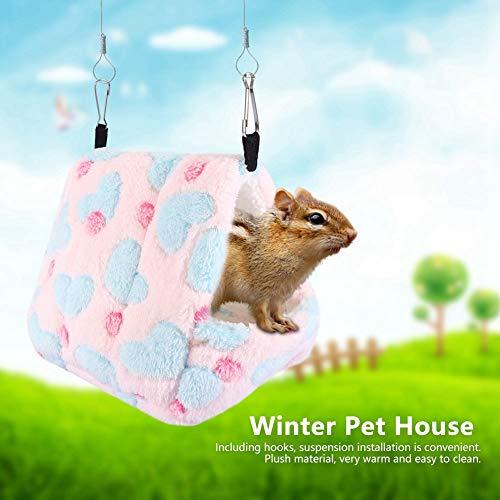 Redxiao 【𝐕𝐞𝐧𝐭𝐚 𝐑𝐞𝐠𝐚𝐥𝐨 𝐏𝐫𝐢𝐦𝐚𝒗𝐞𝐫𝐚】 Casa de Ardilla para Exteriores, casa de algodón para Mascotas, casa para Gatos al Aire Libre, casa de algodón(Pink, 14 * 12)