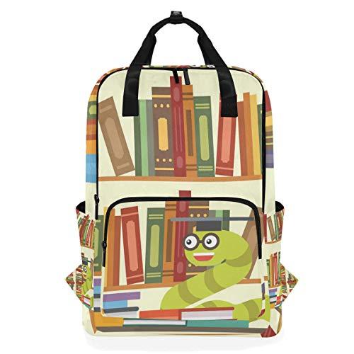 DEZIRO Bookworm Bücherregal Casual Rucksack Schultertasche