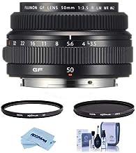 $1050 » Fujifilm FUJINON GF 50mm F/3.5 R LM WR Lens for GFX Medium Format System - Bundle with Hoya NXT Plus 62mm HMC UV Filter, Hoya NXT Plus 62mm HMC Circular Polarizer Filter, Cleaning Kit, Cloth
