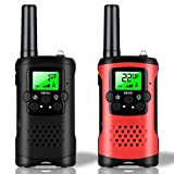 Kids Walkie Talkies 22 Channels - Walky Talky for Adult Kids 3 Miles Long Range Handheld Radio Kids Toy with LCD Flashlight for Boys Girls Outside Adventure 2 Way Radio, Black &Red
