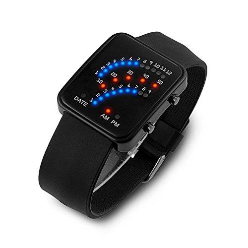 TTLOVE Frauen Herren Multicolor Led Sport-Armbanduhr,Wasserdicht Digitale Uhren Analog Sport Armbanduhr Stoppuhr Und Kautschuk Uhr
