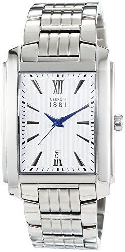 CERRUTI Firenze III CRB040A211C - Reloj para Hombres, Correa de Acero Inoxidable Color Plateado