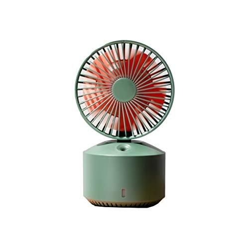 Mini aire acondicionado Oficina pequeño Ventilador Recargable de la Cama del Escritorio con el USB portátil pequeño hogar Mudo del Ventilador Grande del Viento (Color : Green)