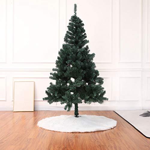 Alfombra -- Blanca Árbol de Navidad Rock Ornament Felpa Alfombra Base Base Base Cover Navidad Nochevieja Fiesta Decoración 100 cm