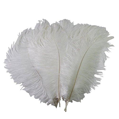 15–20 cm echte, natürliche weiß HOME DECOR Strauß Federn DIY Craft Feder 50 Stück