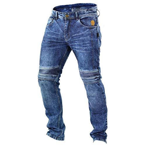 Trilobite MICAS URBAN Herren Motorrad Jeans Blau Protektoren Hose Hoch Abriebfest, 38166504, Größe 32/48