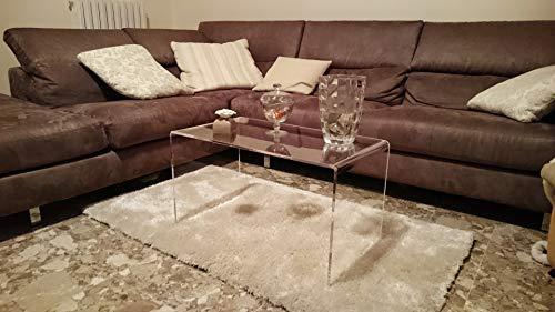 Astroplastic Tavolino Comodino Consolle Soggiorno Salotto in plexiglass PMMA Trasparente - Spessore 10mm (Misure: cm H40 x L70 x P33 - Spessore 10mm)