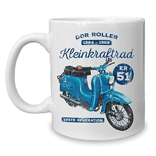 Shirtdepartment - Kaffeebecher - Tasse - Oldtimer Motive DDR-Roller