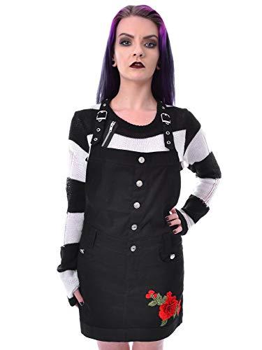Rockabella Vestido Tipo Pichi con Rosas Bordadas - Negro L