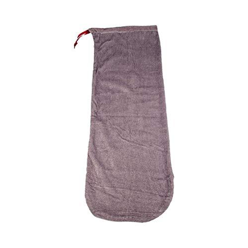 Queenser Bolsa de tecido de cetim para violino Bolsa protetora contra poeira com cordão para 1/2 e 1/4 cinza para violino