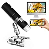 Microware Wireless Digital Microscope, WiFi Handheld Microscope with 2MP Camera 1080P HD Video Recorder,50x to 1000x Magnification,8 LED Lights Kids Microscope for iPhone/iPad/Android Phone wi fi digital camera Oct, 2020