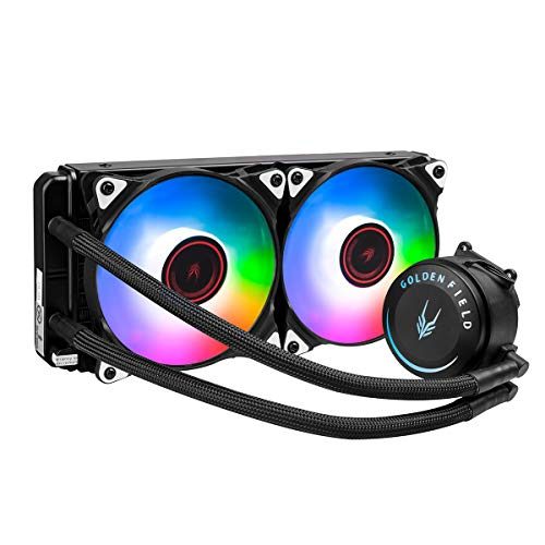 GOLDEN FIELD SF240 RGB All-in-One Liquid CPU Cooler with 240mm Radiator Water Cooling Cooler System...