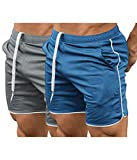 COOFANDY Men's Fitted Workout Shorts Bodybuilding Sporting Running Training Jogger Gym Short Pants with Pockets