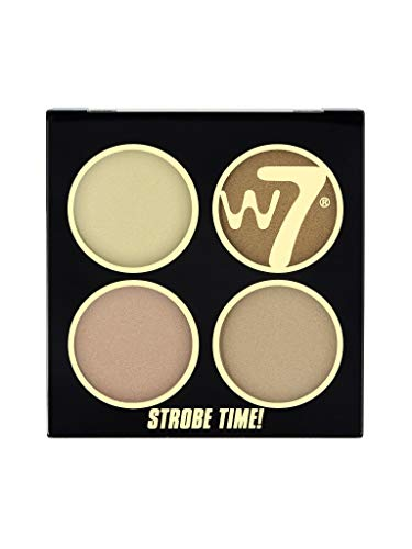 W7 | Highlighter | Strobe Time! Highlighting Palette - Vivid Glow | Highly Pigmented | Perfect For All Skin Types