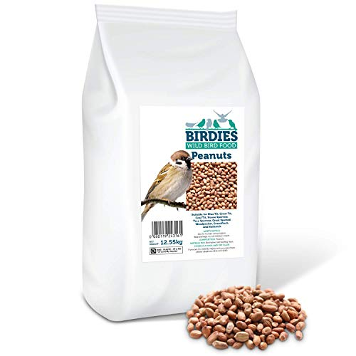 Birdies Wild Bird Food- Premium Peanuts - Bird Food for Wild Birds - 12.55kg