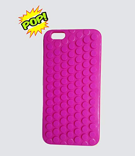 hhyct iPhone 6 Plus Funny Cute Popping Decompression Bubble Wrap Back Silicone Puchi Puchi Case for iPhone 6 Plus / 6S Plus 5.5 Inch (Pink)