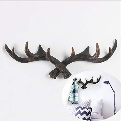 Wandgemonteerde zwevende plank opknoping haak jas rack opslag Antlers Ox hoorn vorm houder, hoeden sleutels sjaals riemen handdoeken huisdier Leashes Hangers Antler muur haak