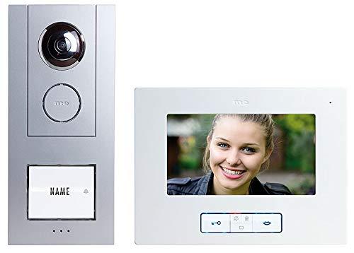VISTUS VD ALU-6710 S Video-Türsprechanlage 7'' Aluminium Silber Komplettset für 1-Familienhaus