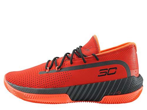 Under Armour UA SC 3ZER0 III, Zapatos de Baloncesto Hombre, Rojo (Red/Jet Gray/Black (601) 601), 51.5 EU