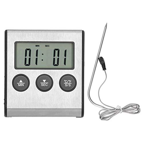 ohcoolstule Digital Touchscreen Food Thermometer for Meat Poultry Fish Cooking in Frying Pan Smoker Oven Grill with Sensitive Color LCD Display  All Temperature and Timer Modes