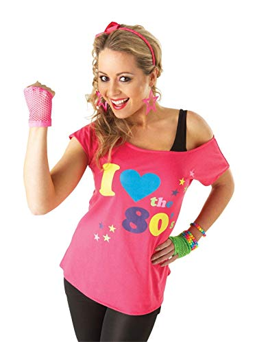 Rubies I Love the 80's T-Shirt - Adult Fancy Dress