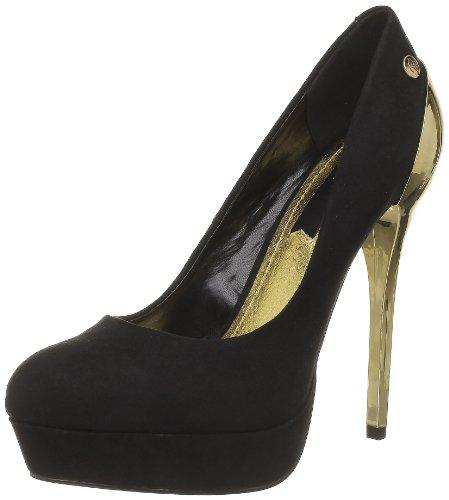 Blink 701394-A, Escarpins femme - Noir (231 Black/Gold), 37 EU