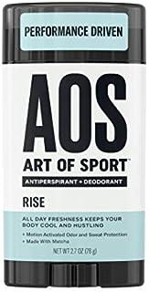 Art of Sport Men's Antiperspirant Deodorant Stick, Rise Scent, Athlete-Ready Formula with Matcha, 2.7 oz