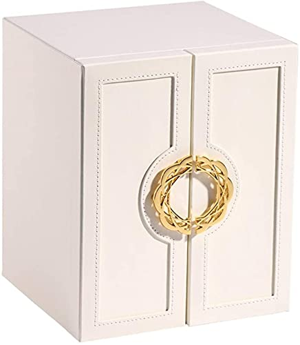Caja de joyería Organizador de joyería Caja de gran capacidad Pantalla de pantalla Pendiente Pulsera Estuche de almacenamiento para mujeres Joyería Caja de joyería Cajas de joyería